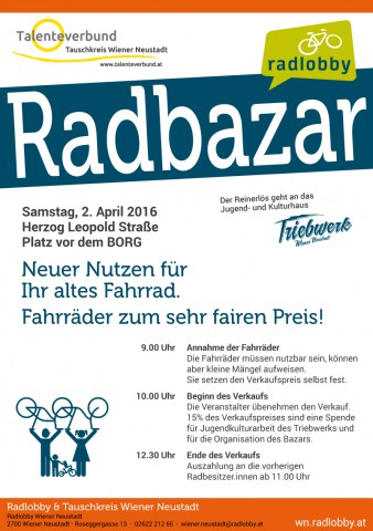 Radbazar in Wiener Neustadt, 2. April 2016