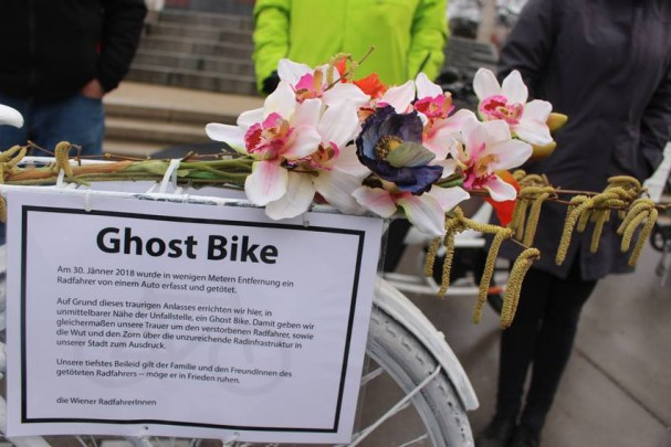 Ghostbike Praterstern Februar 2018