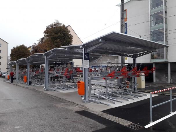 Radabstellanlage Mühlkreisbahnhof