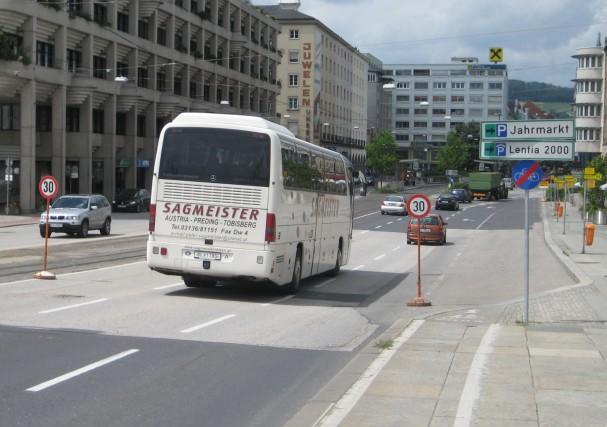 Tempo 30 bei Donautor