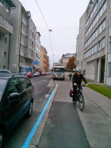 Radfahren auf der Schubertstraße