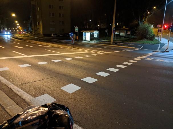 Radfahrerüberfahrt in der Waldeggstrasse