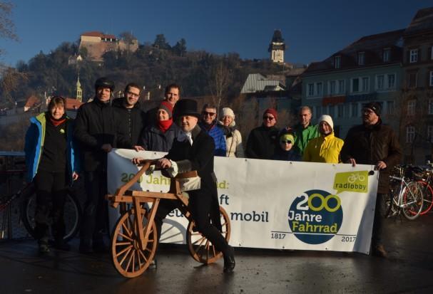 Start zur Neujahrsausfahrt in Graz