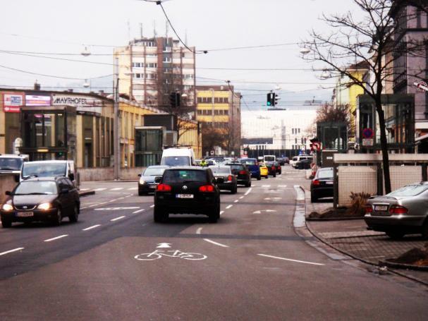 Wienerstraße in Linz (Fotomontage)