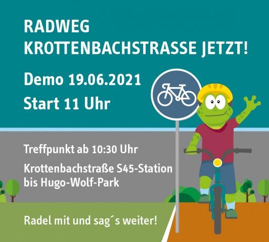 Radweg Krottenbachstraße jetzt! Demo 19.6. 10:30