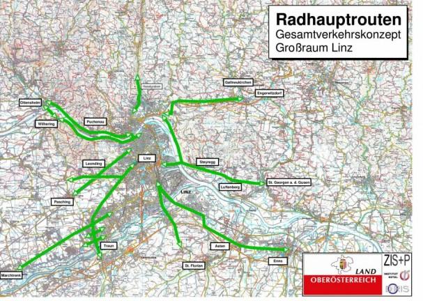 Radhauptroutennetz Planung 2014