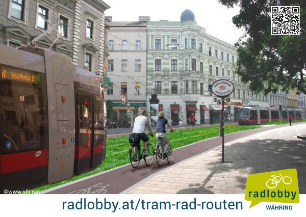 Tram-Rad-Route Postkarte 1 Rückseite