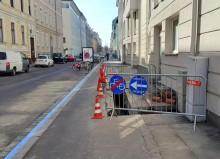 Baustellenbeschilderung Schubertstraße