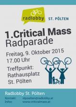 St.Pölten Critical Mass 9. Oktober 2015