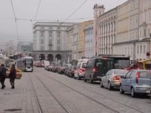 Stau am Hauptplatz Linz