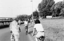 Heidi und Stephan auf Radtour 1982