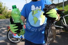 Müllsammelaktion in Dornbirn