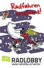 Winter - Radfahren erwärmt
