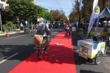 Roter Teppich fürs Fahrrad