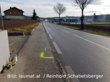 Unfallstelle in Engerwitzdorf
