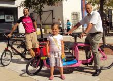 """Lastenräder. Hier bei einer """"cyclelogistics""""-Veranstaltung 2011 in Graz"""