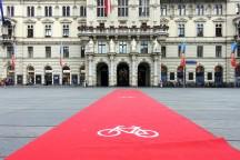 Roter Teppich vor dem Grazer Rathaus