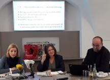 Barbara Urban (Verkehrsplanung, Stadträtin Elke Kahr, Studeinautor Gerald Röschel, ZIS+P