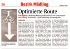 Zeitungsausschnitt: NÖN-Mödling Woche19/2015 - Optimierte Route