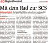 """Zeitungsausschnitt NÖN: """"Mit dem Rad zur SCS"""""""
