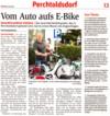 """NÖN-Artikel """"Vom Auto aufs E-Bike"""""""