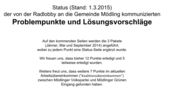 Radlobby-Presseinformation-2015-03-30 - Status der Problempunkte