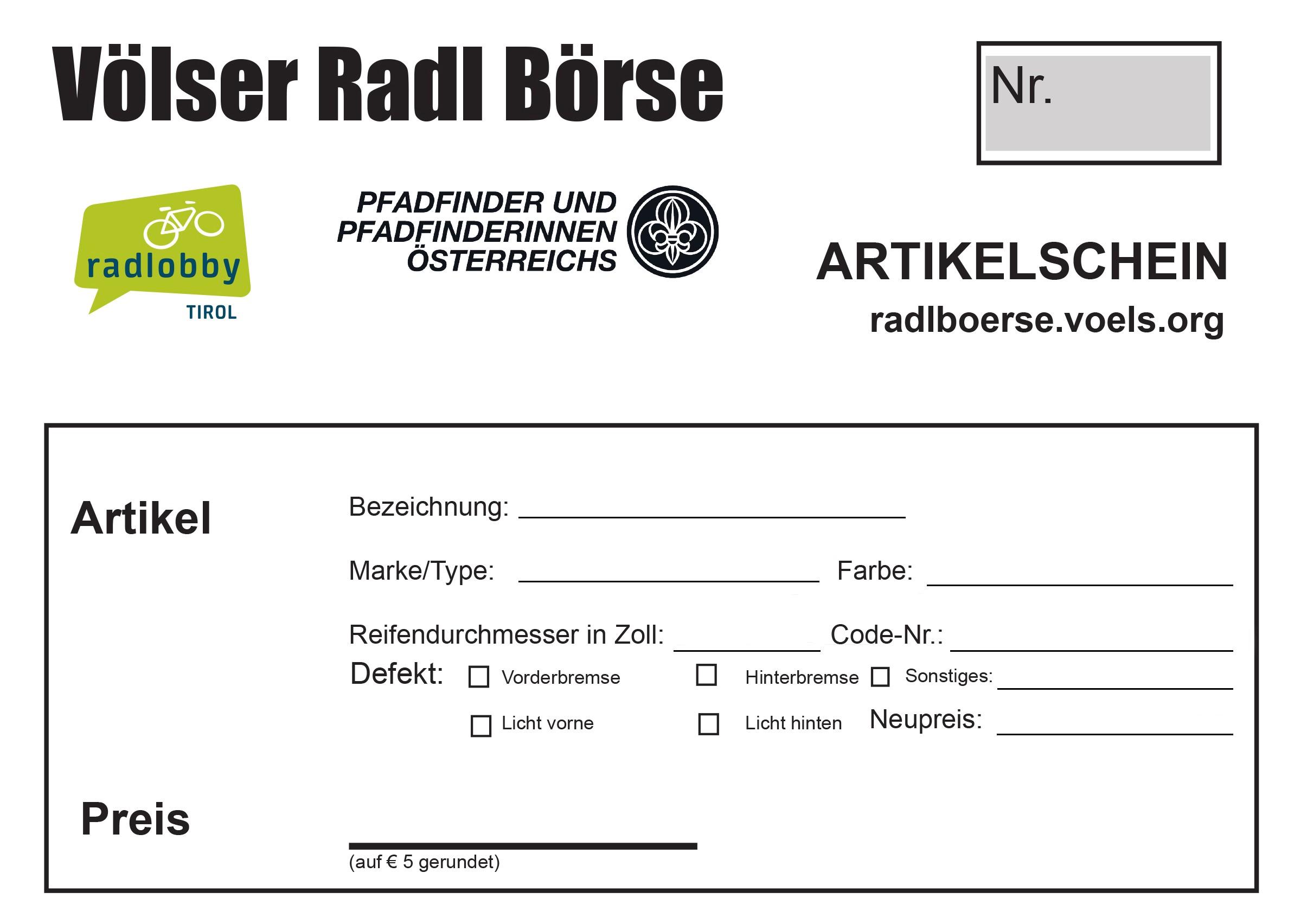 Völser RadlBörse | Radlobby